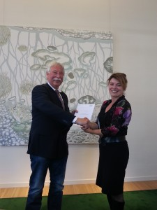 Gerard Waanders met Gedeputeerde Jannewietske de Vries (Provincie Friesland)