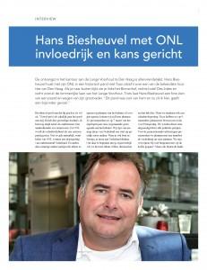 Rijnmond Business februarinummer Hans Biesheuvel met ONL invloedrijk en kans gericht