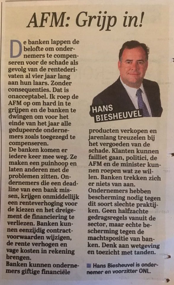 Column Hans Biesheuvel - AFM: grijp in!