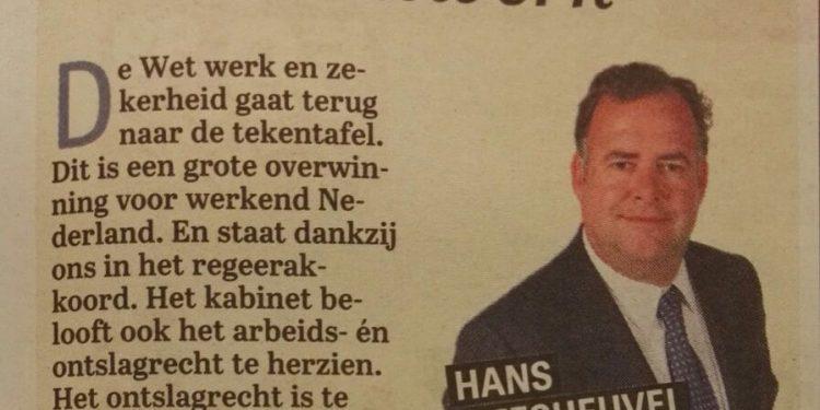 Maatwerk column Hans Biesheuvel