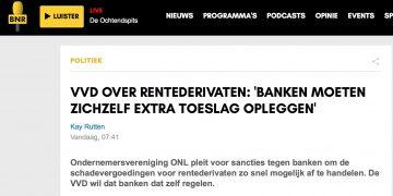 BNR Rentederivaten - Banken moeten zichzelf extra toeslag opleggen
