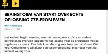 Brainstorm van start over oplossing ZZP-problemen - BNR