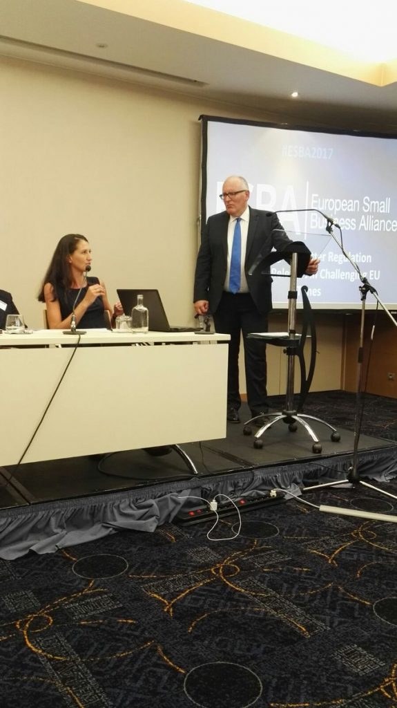 ESBA Annual Event with VP Frans Timmermans
