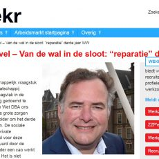 Reparatie derde jaar WW is zeer onverstandig, column Hans Biesheuvel op Wekr