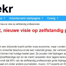 Column Hans Biesheuvel op Wekr over zelfstandig professionals