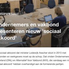 Ondernemers en vakbonden presenteren sociaal akkoord