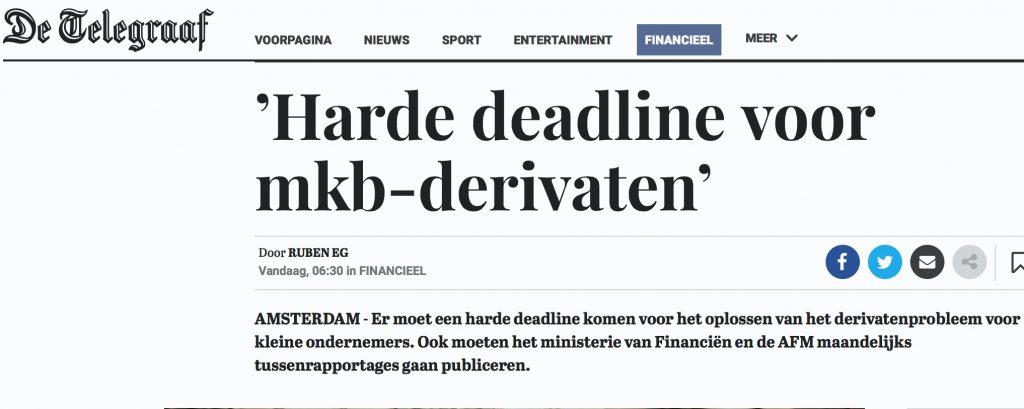 Harde deadline mkb derivaten - Telegraaf