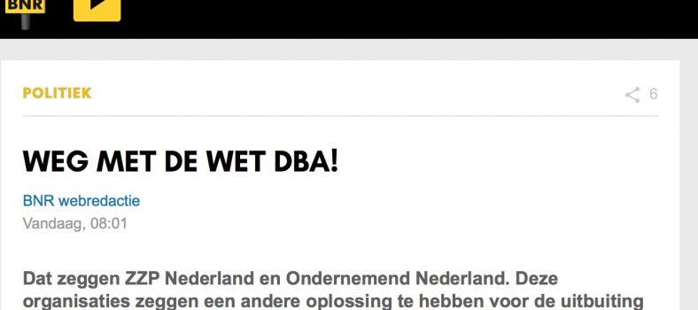 Weg met de Wet DBA - BNR
