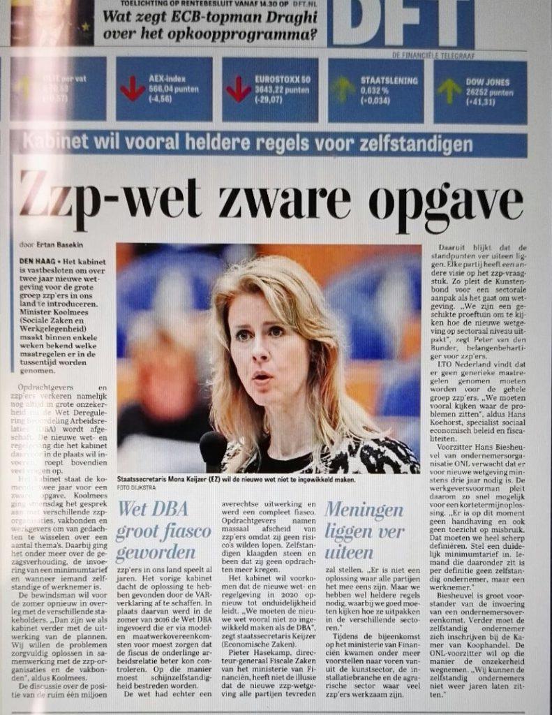 ZZP-wet is een zware opgave - Telegraaf